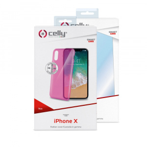 TPU pouzdro CELLY Ultrathin pro Apple iPhone X/XS, růžové