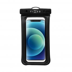 Voděodolné plovoucí pouzdro na mobil FIXED Float Edge s kvalitním uzamykacím systémem a certitikací IPX8, černá