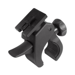 Nastavitelný držák pro tlustší tubulární řídítka Interphone vhodný pro vybraná pouzdra řady SM, rozpětí 15-50 mm