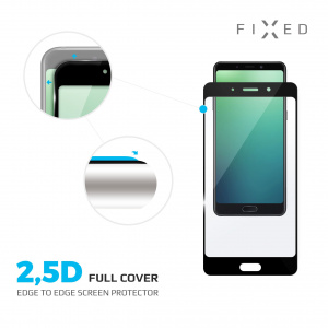 Ochranné tvrzené sklo FIXED Full-Cover pro Motorola One Vision, lepení přes celý displej, černé