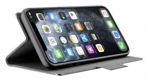Pouzdro typu kniha Cellularline Elemento Dark Stone pro Apple iPhone 11 Pro