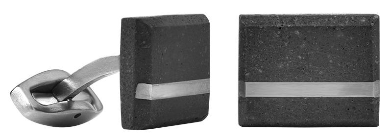 Manžetové knoflíčky z betonu a oceli Falcon Steel GJCMSSA004UN