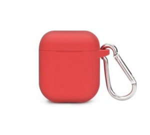 Pouzdro silikonové pro sluchátka AirPods, červená