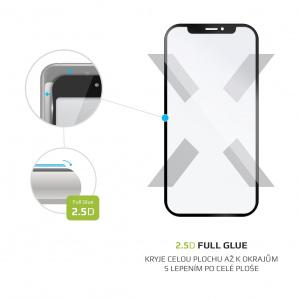 Ochranné tvrzené sklo FIXED Full-Cover pro Realme 5 Pro, lepení přes celý displej, černé
