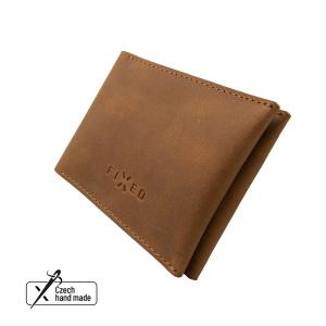 Kožená peněženka FIXED Wallet z pravé hovězí kůže, hnědá