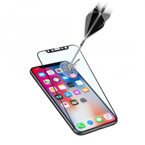 Ochranné tvrzené sklo pro celý displej Cellularline CAPSULE pro Apple iPhone X/XS