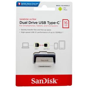 USB Flash Disk (PenDrive) SANDISK ULTRA DUAL DRIVE 16GB USB 3.0 130MB/s - micro USB Typ C
