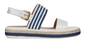 Dámské sandále D Sandal Leelu` White/Blue D02GFE-04311-C0006