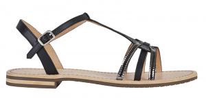 Dámské sandále D Sozy Black/Gun D022CG-01JMA-C9B1G