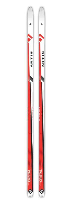 Běžky ARTIS CRISTAL 180-210 červené s protismykem 200