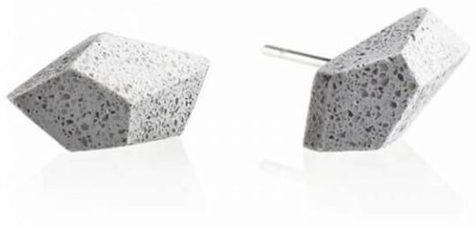 Náušnice z betonu Rock GJEWNAG005UN