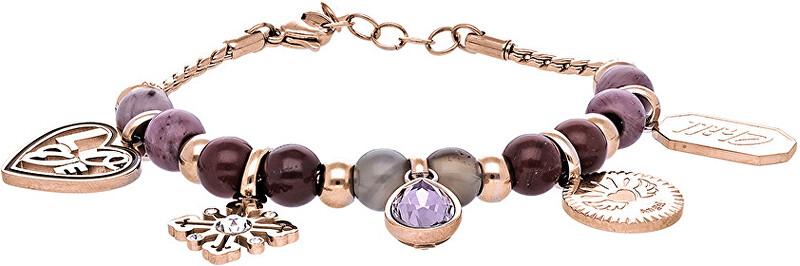 Růžově zlacený ocelový náramek Très Jolie BTJMS689