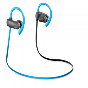 Sportovní bezdrátová stereo sluchátka CELLULARLINE SPORT BOUNCE, AQL® certifikace, ultralehká, světle modrá