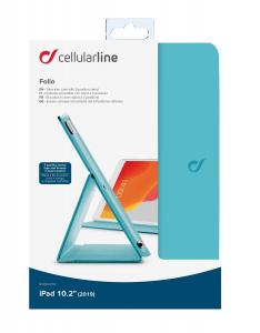 """Pouzdro se stojánkem CellularLine FOLIO pro Apple iPad 10,2"""" (2019), tyrkysové"""