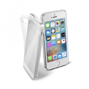 Extratenký zadní kryt CellularLine Fine pro Apple iPhone 5/5S/SE, bezbarvý