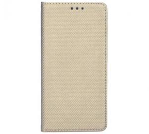Pouzdro kniha Smart pro Nokia 7 Plus, zlatá