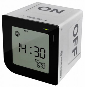 Bresser FlipMe Tabletop Alarm Clock silver