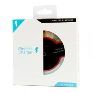 Indukční nabíječ ENTERPRISE LED 2A barva černá
