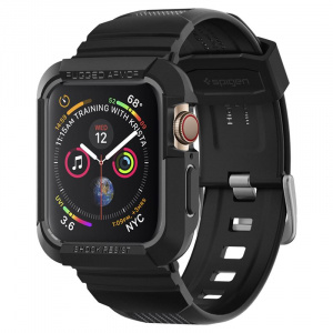 Spigen Rugged Armor Pro, black -Apple Watch 4 44mm
