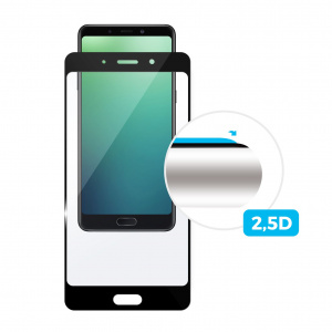 Ochranné tvrzené sklo FIXED Full-Cover pro Nokia 7.1, přes celý displej, černé