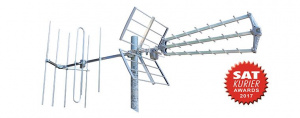 DVB-T/T2 anténa FUBA DAT913 COMBO H/V LTE  35 prvků, zisk 12dB