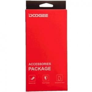 Kryt ochranný + tvrzené sklo Doogee pro Doogee Y9 Plus, TPU gelové transparentní +  tvrzené sklo na displej