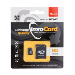 Paměťová karta micro SD IMRO 4GB Class 4 Blistr