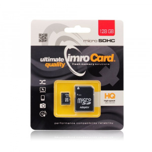 Paměťová karta micro SD IMRO 128GB Class 10 Blistr