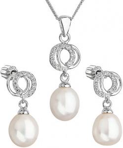 Překrásná perličková sada se zirkony Pavona 29003.1 bílá (náušnice, řetízek, přívěsek)