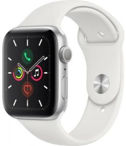 Hodinky Apple Watch Series 5 44mm Silver Aluminium - White Sport pásek 2019
