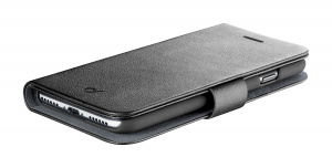Pouzdro typu kniha CellularLine Book Agenda pro Apple iPhone 11 Pro Max, černé