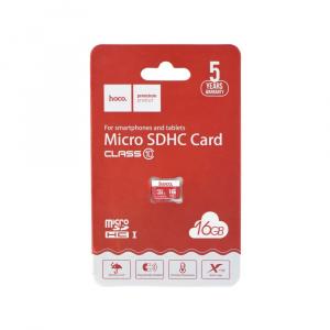 Paměťová karta micro SD HOCO 16GB Class 10 (USB 3.0) High Speed Blistr