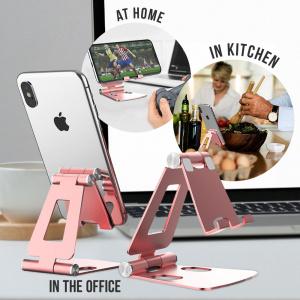 Stojánek pro mobil -  kovový, barva růžová