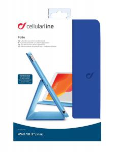 "Pouzdro se stojánkem CellularLine FOLIO pro Apple iPad 10,2"" (2019), modré"