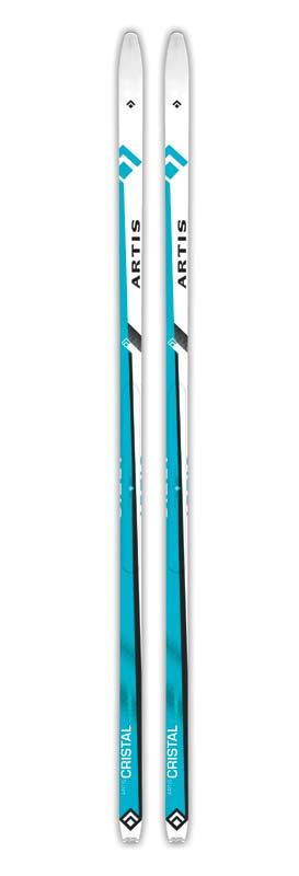 Běžky ARTIS CRISTAL 180-210 modré s protismykem 190