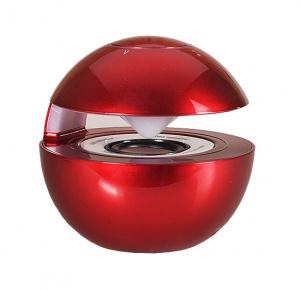 Mini reproduktor BlueTooth LED BALL barva červená
