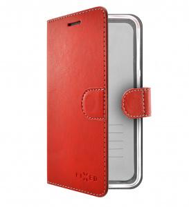 Pouzdro typu kniha FIXED FIT pro Apple iPhone 11, červené
