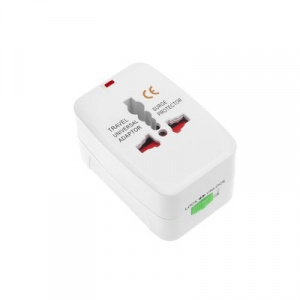 Cestovní nabíječ adaptér EU / UK (Anglie), USA, AU - barva bílá (0013)