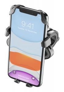 Univerzální držák na mobilní telefony Interphone Smart Crab s úchytem na řidítka, černý