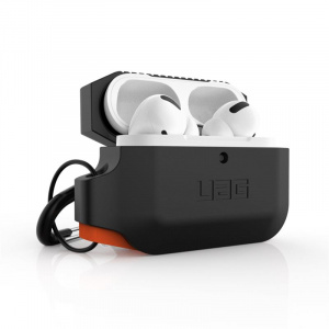 UAG Silicone case, black/orange - AirPods Pro