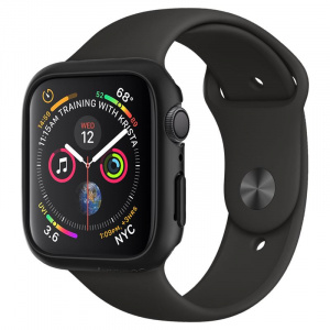 Spigen Thin Fit, black - Apple Watch 4 44mm