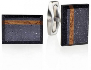 Manžetové knoflíčky z betonu a dřeva Falcon Wood GJCMWOA004UN