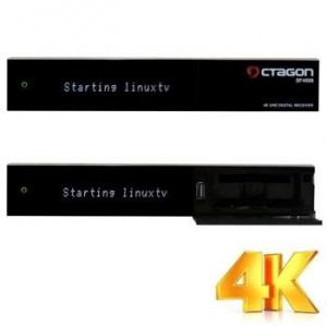 OCTAGON SF4008 Triple 4K E2 UHD 2x DVB-S2X  1x DVB-C/T2 HEVC