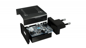 Nabíjecí set USB adaptéru a USB-C kabelu Cellularline, Qualcomm® Quick Charge™ 3.0, 18W, černý