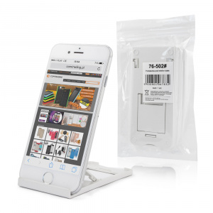 Stojánek pro mobil, plast barva bílá