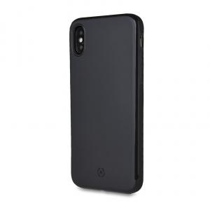 Zadní magnetický TPU kryt CELLY GHOSTSKIN pro Apple iPhone XS Max, kompatibilní s GHOST držáky, černý