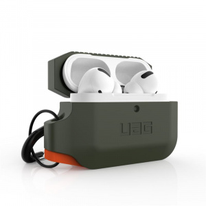 UAG Silicone case, olive/orange - AirPods Pro