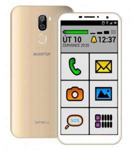 Aligátor S5710 DUO SENIOR Gold (dualSIM) 16GB/2GB + tvrzené sklo (BONUS)