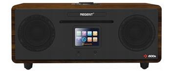 FERGUSON i500 - Digitální rádio Spotify Black/deep wooden, DAB+, FM, CD, WiFi, Bluetooth
