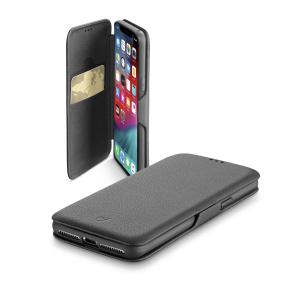 Pouzdro typu kniha CellularLine Book Clutch pro Apple iPhone XS Max, černé